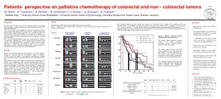 Patients´ perspective on palliative chemotherapy of colorectal and non - colorectal tumors