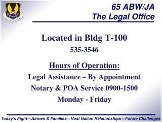 65 ABW/JA The Legal Office