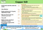 Very effective, with little to remember. Copper T 380A lasts for 10 years.  For older women: should be removed 1 year af