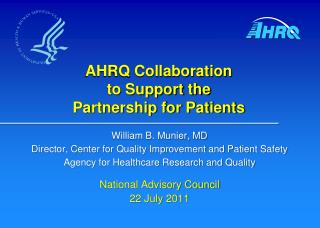 AHRQ Collaboration to Support the Partnership for Patients