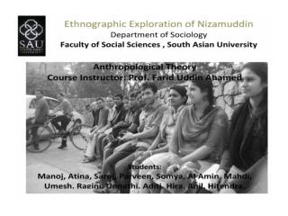 AN ANTHROPOLOGICAL EXPLORATION OF NIZAMUDDIN !!!!!!