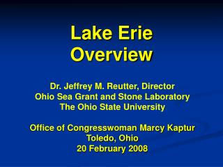 Lake Erie Overview