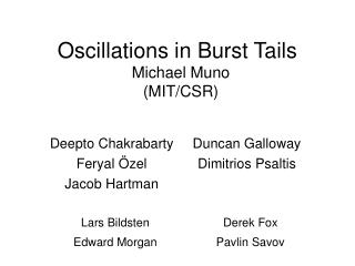 Oscillations in Burst Tails