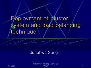 Deployment of cluster system and load balancing technique