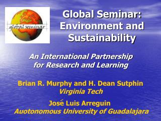 Global Seminar: Environment and Sustainability