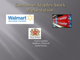 Consumer Staples Stock Presentation