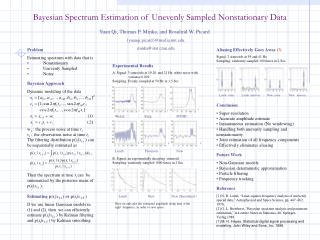 Bayesian Spectrum Estimation of Unevenly Sampled Nonstationary Data