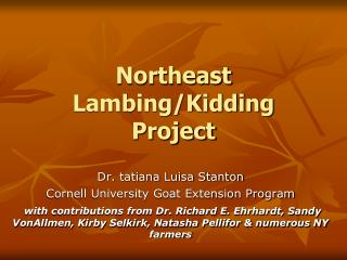 Northeast Lambing/Kidding Project