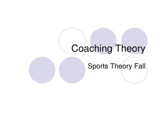 Coaching Theory