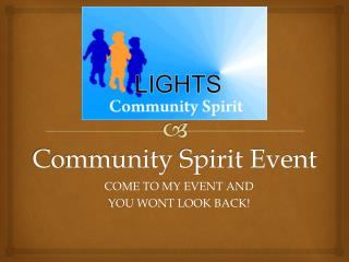 Community Spirit Event