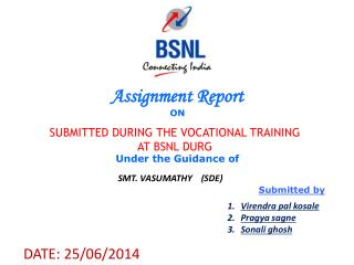 Assignment Report ON