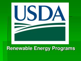 Renewable Energy Programs