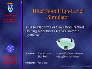 BlueTooth High-Level Simulator