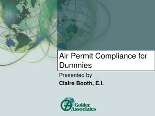 Air Permit Compliance for Dummies