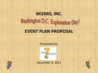 WIZMO, INC. EVENT PLAN PROPOSAL