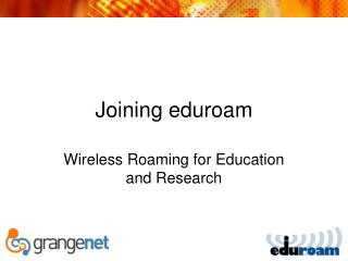 Joining eduroam