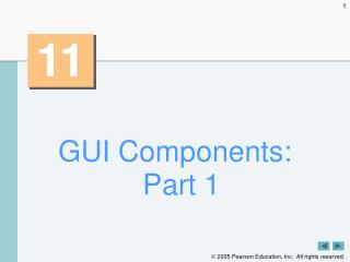 GUI Components: Part 1