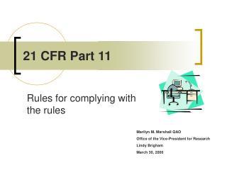 21 CFR Part 11
