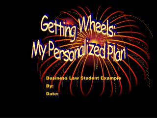 Getting Wheels: My Personalized Plan