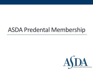 ASDA Predental Membership