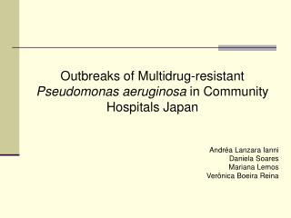 Outbreaks of Multidrug-resistant  Pseudomonas aeruginosa  in Community Hospitals Japan