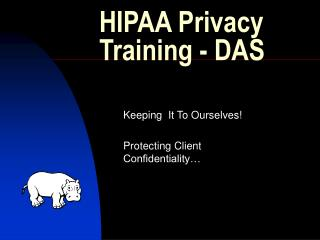HIPAA Privacy Training - DAS
