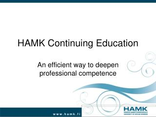 HAMK Continuing Education