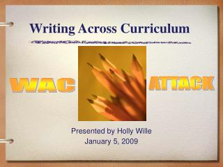 Writing Across Curriculum