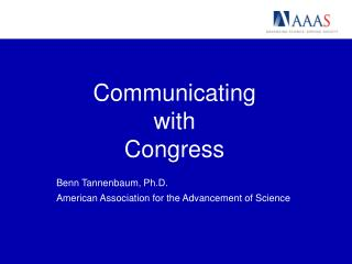 Communicating  with  Congress