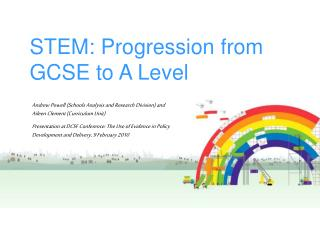 STEM: Progression from GCSE to A Level