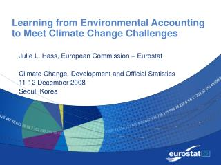 Learning from Environmental Accounting to Meet Climate Change Challenges