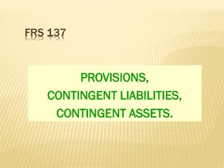 FRS 137