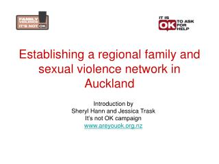 Establishing a regional family and sexual violence network in Auckland