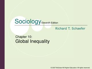 Chapter 10: Global Inequality
