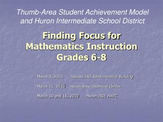 Finding Focus for Mathematics Instruction Grades 6-8