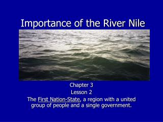 Importance of the River Nile