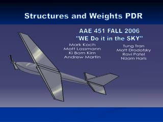 Structures and Weights PDR