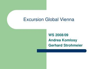 Excursion Global Vienna