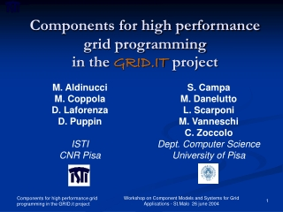 High level programming for the Grid
