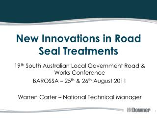 New Innovations in Road Seal Treatments