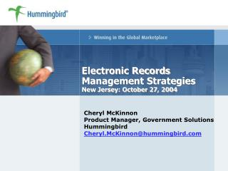 Electronic Records Management Strategies