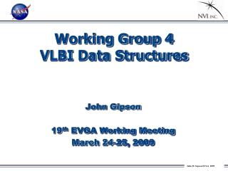 Working Group 4 VLBI Data Structures