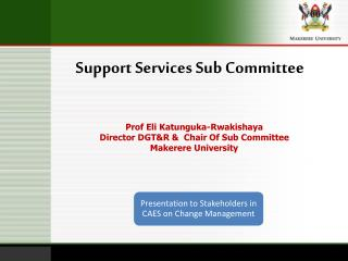 Support Services Sub Committee