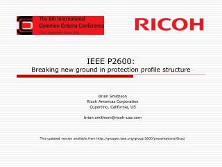 IEEE P2600: Breaking new ground in protection profile structure