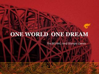 The BEIJING 2008 Olympic Games