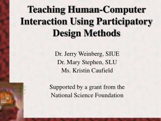 Teaching Human-Computer Interaction Using Participatory Design Methods
