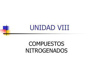 UNIDAD VIII