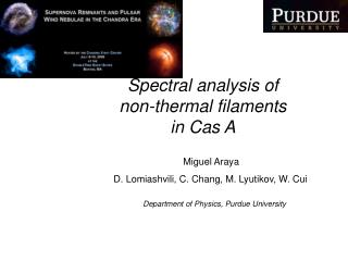Spectral analysis of non-thermal filaments in Cas A