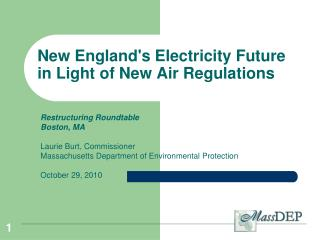 New England's Electricity Future in Light of New Air Regulations