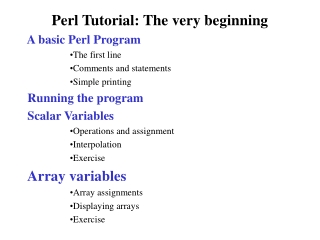 Perl Tutorial